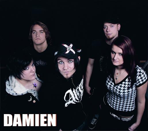 """Jeanette Kobal, Michael Cap, Markus Rist, David Aps und Michelle Köhler (von links) sind """"Damien"""""""